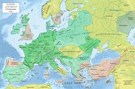 Political Map Of Europe by This Political Map Of Europe In 814 Showsp Olitical Borders And