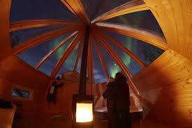 sleep under the northern lights our brand new crystal lavvu here you can sleep under the northern