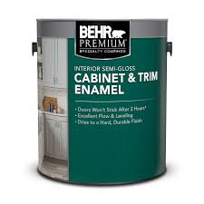 what is the most durable paint for kitchen cabinets interior semi gloss cabinet trim enamel paint behr