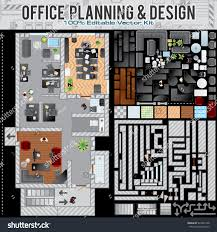 business office planning creation kit kit stock vector 329045138