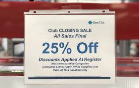 closing sam s club locations offering 25 save on tvs k cups