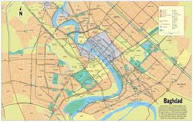 map of bagdad large road map of central part of baghdad city baghdad iraq