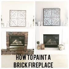 how to paint a brick fireplace ladyslittleloves com diy