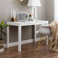 Mainstays Glass Top Desk by Contemporary Two Drawer Student Desk In White Free Shipping