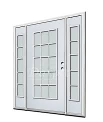 15 Lite Exterior Door 15 Lite Clear Glass Steel Exterior Door With Sidelites 6 8
