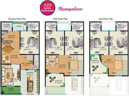 Floor Plans For Bungalows Rainbow Sweet Homes U2013 120 Sq Yards Double Storey Bungalow