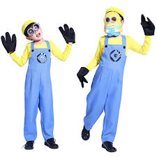 halloween costume boys suit small yellow people despicable me