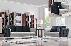Fabric Sofa Set Casa Torey Modern Dark Grey U0026 Light Grey Fabric Sofa Set