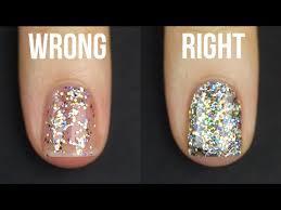 you u0027re putting on glitter nail polish all wrong glitter nail