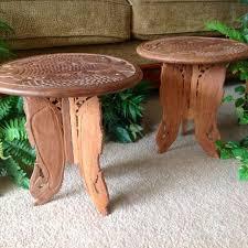Plant Pedestal Best Hand Carved Solid Wood Accent Pedestal Tables Plant Stands