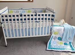 Nursery Crib Bedding Sets Blue Baby Bedding Set Embroidery 3d Whale Baby Crib Bedding