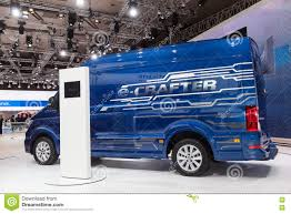 electric volkswagen van volkswagen crafter electric van editorial stock photo image