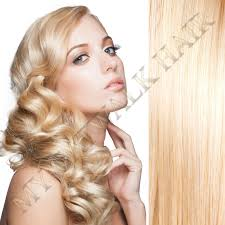 Blonde Weft Hair Extensions by Tape Weft Remy Extensions 613 Light Creamy Blonde U2013 My Catwalk Hair