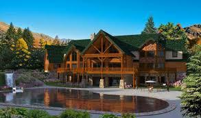 mansion home plans log mansion home plan by golden eagle log homes