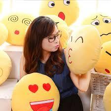 Plush Sofa Bed Cute Emoji Expression Throw Pillow Stuffed Plush Sofa Bed Cushion