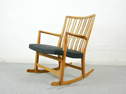 John F Kennedy Rocking Chair Ml 33 Rocking Chair With Floral Carving By Hans J Wegner For