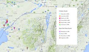 Map Of Ottawa Eastern Ontario And New York State Generating Facilities