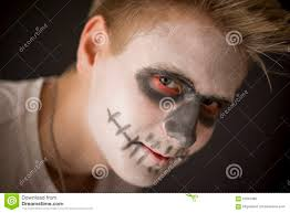 Mens Halloween Makeup by Young Man In Halloween Makeup Stock Photo Image 62097086