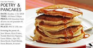 pancakes cuisine az poetry pancakes a casa libre fundraiser 901 n 13th ave tucson