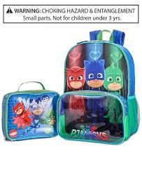 pj masks backpack u0026 lunch bag boys 2 7 u0026 big boys 8 20