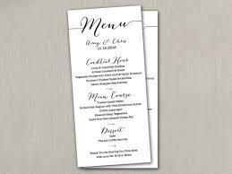 diy wedding menu cards wedding menu card diy wedding menu printable wedding menu