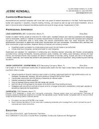 Sample Resume For A Construction Worker by Carpenter Resume Examples Resume Examples First Job Examples Of