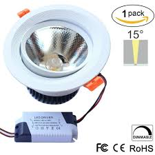 16w dimmable cri u003e80 1200 1300lm directional recessed cob led
