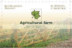 Farm Business Card Business Card Single Side
