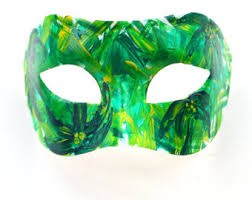 green mardi gras mask green mask etsy