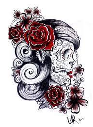 43 best sugar skull pin up designs images on