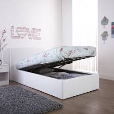 Single Ottoman Bed Arizona White Leather Ottoman Bed Frame U2013 Dublin Beds