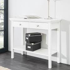 Country Console Table In White With 2 Drawers 28080