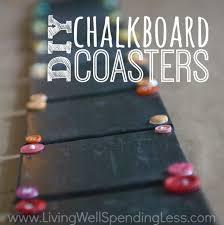 How To Make Christmas Gifts Handmade Ideas Diy Chalkboard Coasters Easy Handmade Gift Idea Living Well