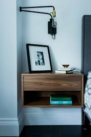 Floating Nightstand With Drawer Stunning Floating Nightstand With Drawer In Oak Scandinavian
