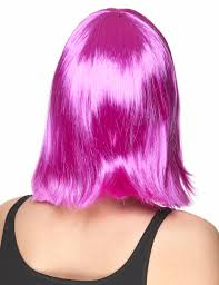 fuschia bobbed mid length fuschia wig for women wigs and fancy dress