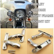 harley davidson auxiliary lighting kit chrome auxiliary lighting brackets kits for harley touring street