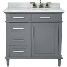 Modern White Bathroom Vanity Vanities With Tops Bathroom The Home Depot Pertaining To