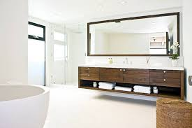 Floating Bathroom Vanities Interior Stunning Contemporary Bathroom In White With Floating