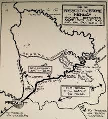 Jerome Arizona Map by Prescott Arizona History Highway 79 The Prescott To Jerome