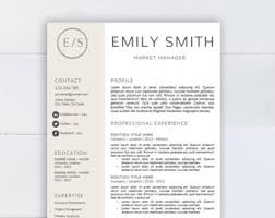Edd Resume Medical Resume Template Cv Template For Word Two Pages