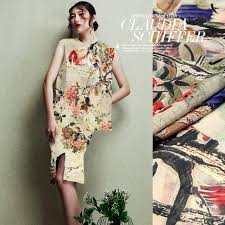 2017 wu shuang chinese style dress shirt printing linen fabrics