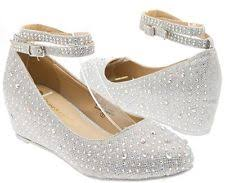 wedding shoes low wedges janes bridal shoes ebay