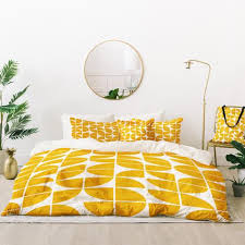 at mid century modern geometric 20 yellow art products deny designs