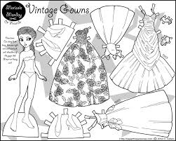 vintage gowns 1950s evening gowns in paper doll form