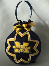 of michigan inspired quilted ornament