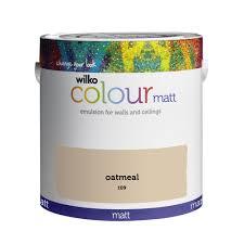 wilko matt emulsion paint oatmeal 2 5l at wilko com