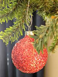 Christmas Glitter Ornaments Glitter Ball Ornaments Organize And Decorate Everything