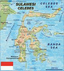 World Atlas Map Map Of Sulawesi Indonesia Map In The Atlas Of The World