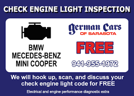 Check Engine Light Codes German Cars Of Sarasota Bmw Service Mercedes Benz Repair