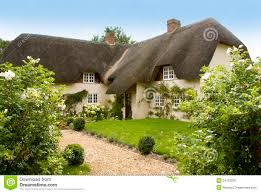 country cottage traditional thatched country cottage stock image image